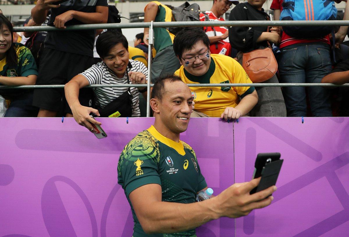 ジャパンラグビートップリーグで会える #RWC2019 で活躍した海外選手✨ Part.5 オーストラリア代表 クリスチャン・リアリーファノ🇦🇺 身長179センチ 体重95キロ 32歳 今大会4試合に出場。大会中にはファンと気さくに触れ合う場面も✨ @JRTopLeague