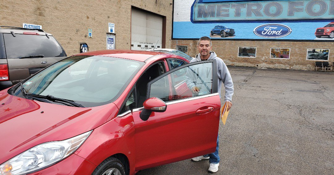 Congratulations Mr. Lopez on the purchase of your New Predriven Flashy Red 2012 Ford Fiesta!  Thanks for being apart of the Metro Ford Chicago Family!   #predriven #fordfiesta #metrofordfamily #chicago #greatcustomers #newcar #fiesta