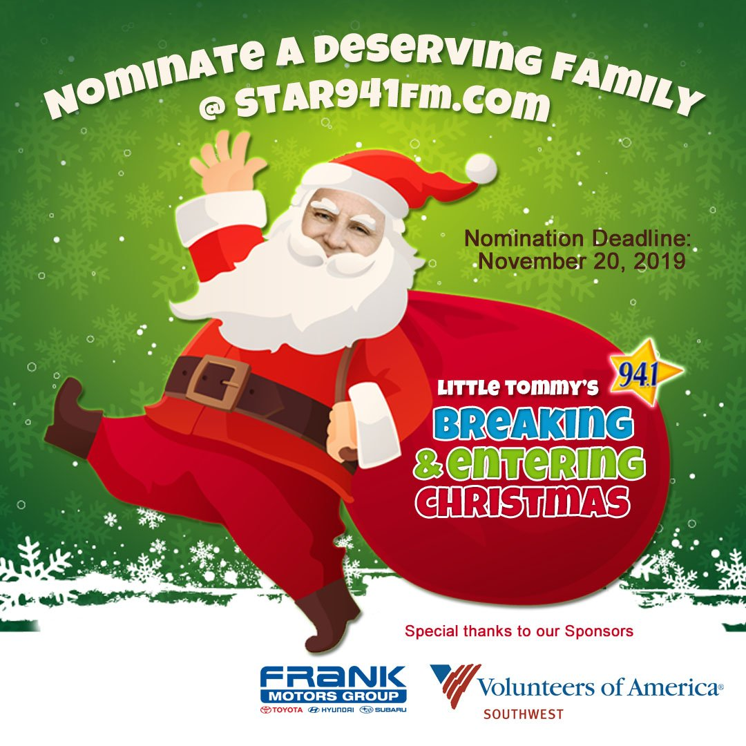 Nominate a person or family in need this #Holiday season!  #LittleTommy #BreakingandEnteringChristmas #SanDiego