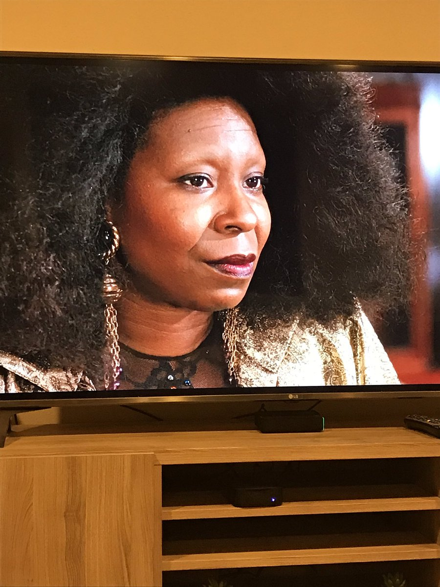 Whoopi has transcended the need for eyebrows