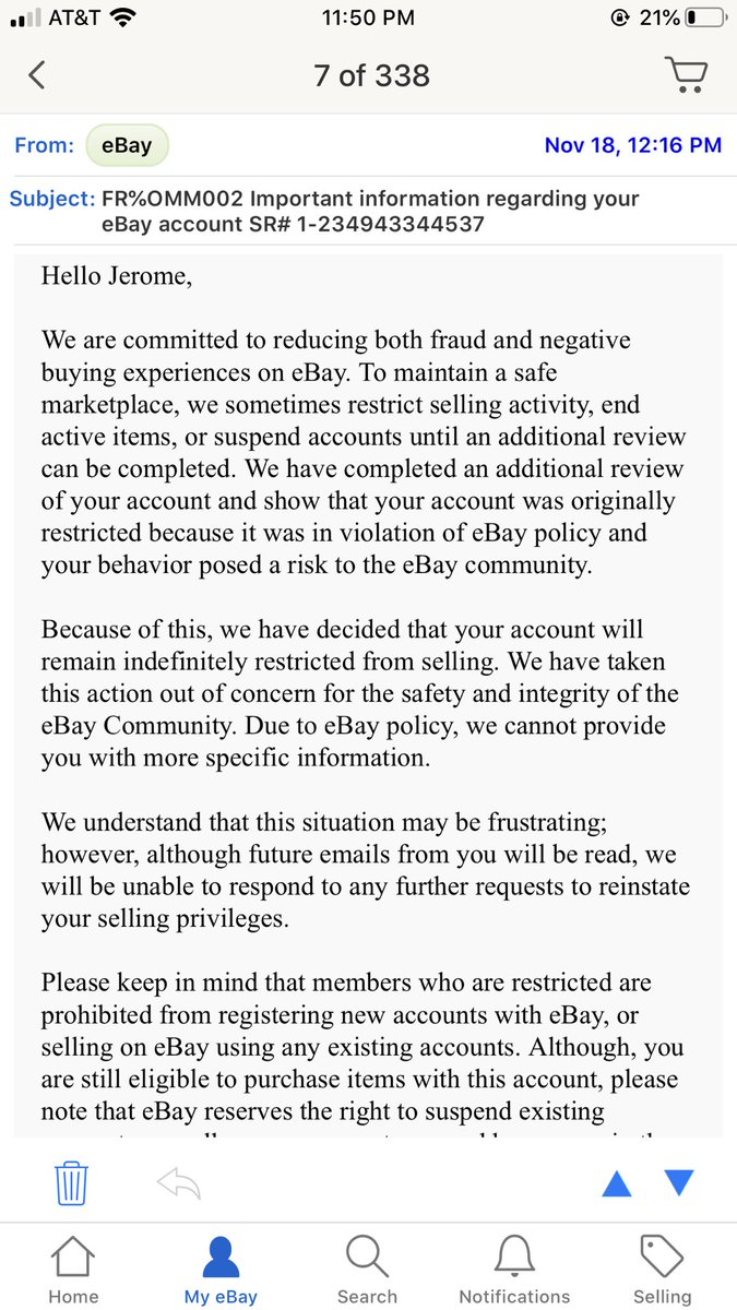 Jerome Emanuel On Twitter So Ebay Suspended My Account Indefinitely Keep In Mind Our Business Model Is To Fight Recidivism And Keep People Out Of The Criminal Justice System After Over A