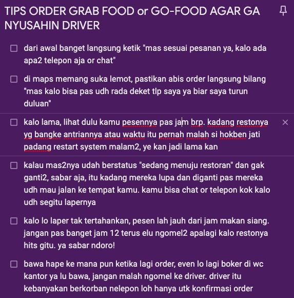 Dear Customer Ojol, Berhenti Memperlakukan Driver Grab dan Gojek Sebagai Babu