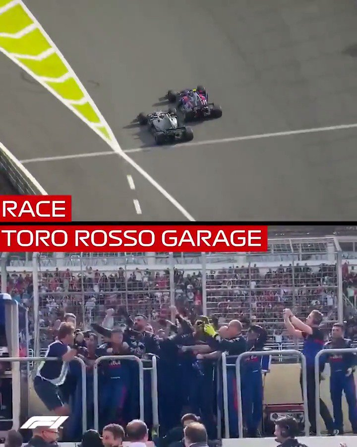 Moments like this are why we race 🙌  #BrazilGP 🇧🇷 #F1 @PierreGASLY @ToroRosso