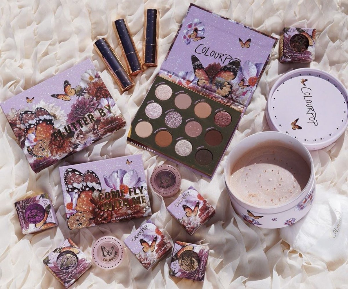 カラーポップにバタフライ🦋!紫の蝶々。。可愛い。@ColourPopCo