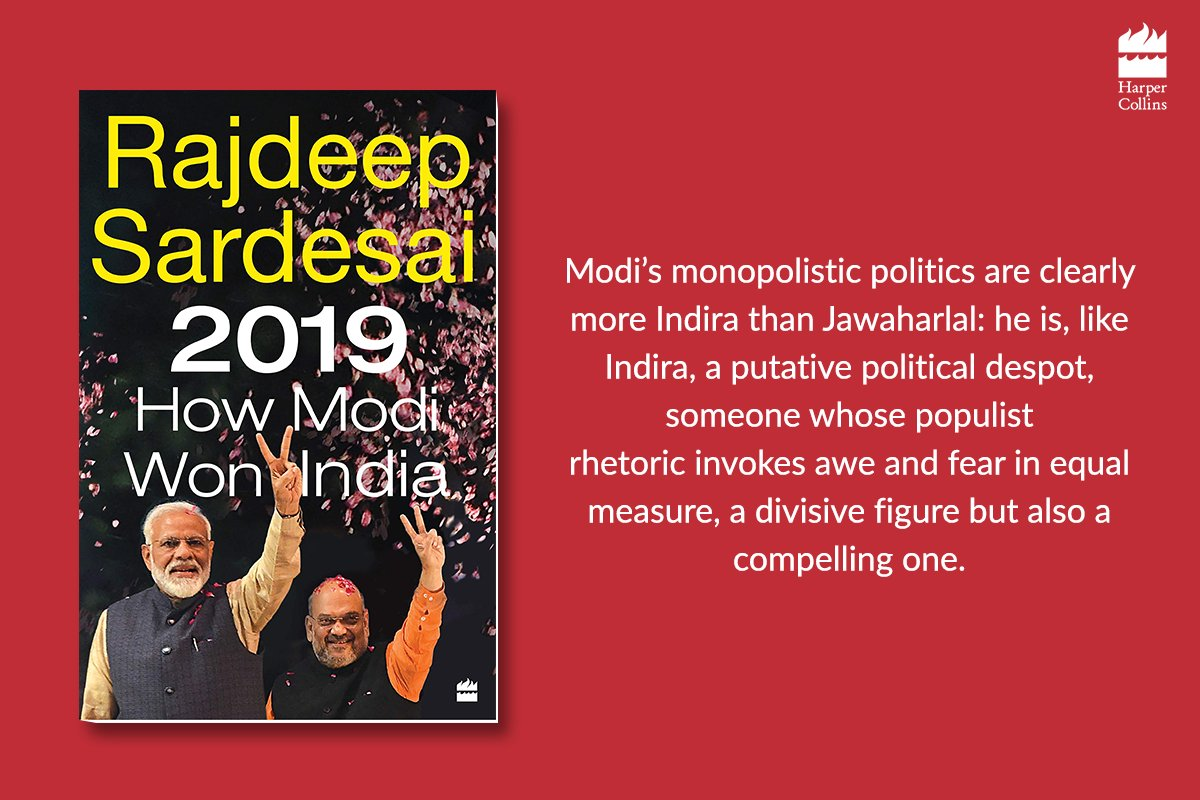 To some, the numbers of Modi's victory in 2019 came as something of a surprise; for others, the BJP's triumph was a vindication of their belief in the government and its policies.Know the whole story in 2019: #HowModiWonIndia by @sardesairajdeep : https://harpercollins.co.in/book/2019/