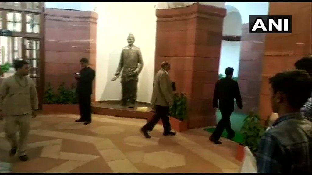 Image result for pawar met modi in parliament