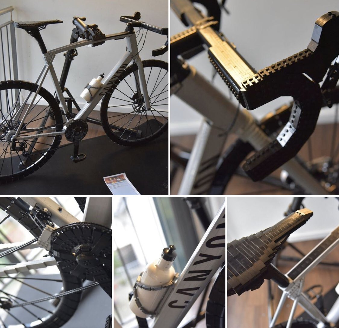 Someone sent me this pic via LinkedIn. A @CanyonUK Ultimate built from Lego.....