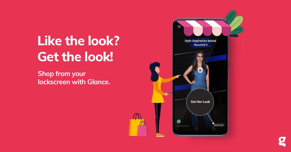 Flaunt your style by shopping on Glance. Do you have your Glance enabled phone yet? #UnlockZindagi