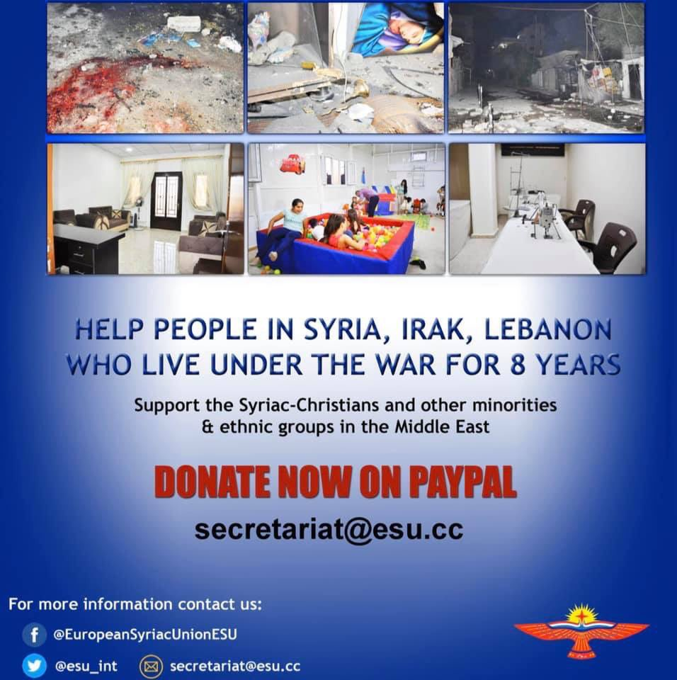 HELP PEOPLE IN SYRIA, IRAQ & LEBANON Support the Syriac-Christians and other minorities & ethnic groups in the Middle East