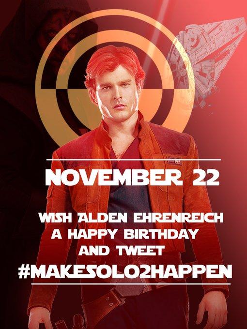 Don\t forget to wish Alden Ehrenreich a Happy Birthday friday !