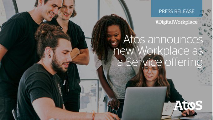 Atos today announces its new #Workplace as a Service @Google Edition to provide enterprise...