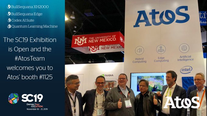 The #SC19 Exhibition in #Denver has now finally officially opened. Join the #AtosTeam at...