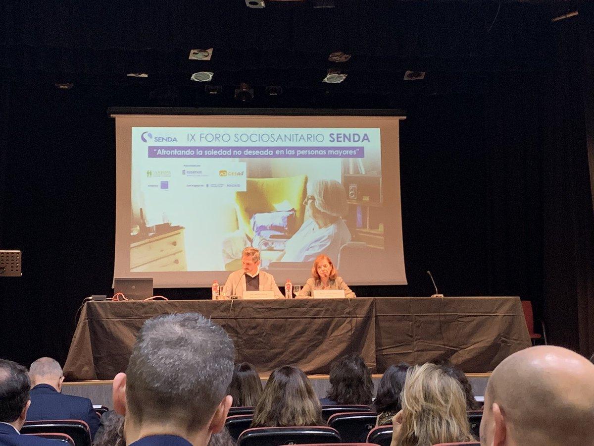 """test Twitter Media - Participando en el Foro Sociosanitario del @Grupo_SENDA con José Aniorte @MADRID sobre """"Soledad no deseada en personas #mayores"""" @AESTE_oficial @Balance_web https://t.co/UOV38b95NA"""