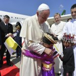 Image for the Tweet beginning: #PopeFrancis arriving in #Thailand this