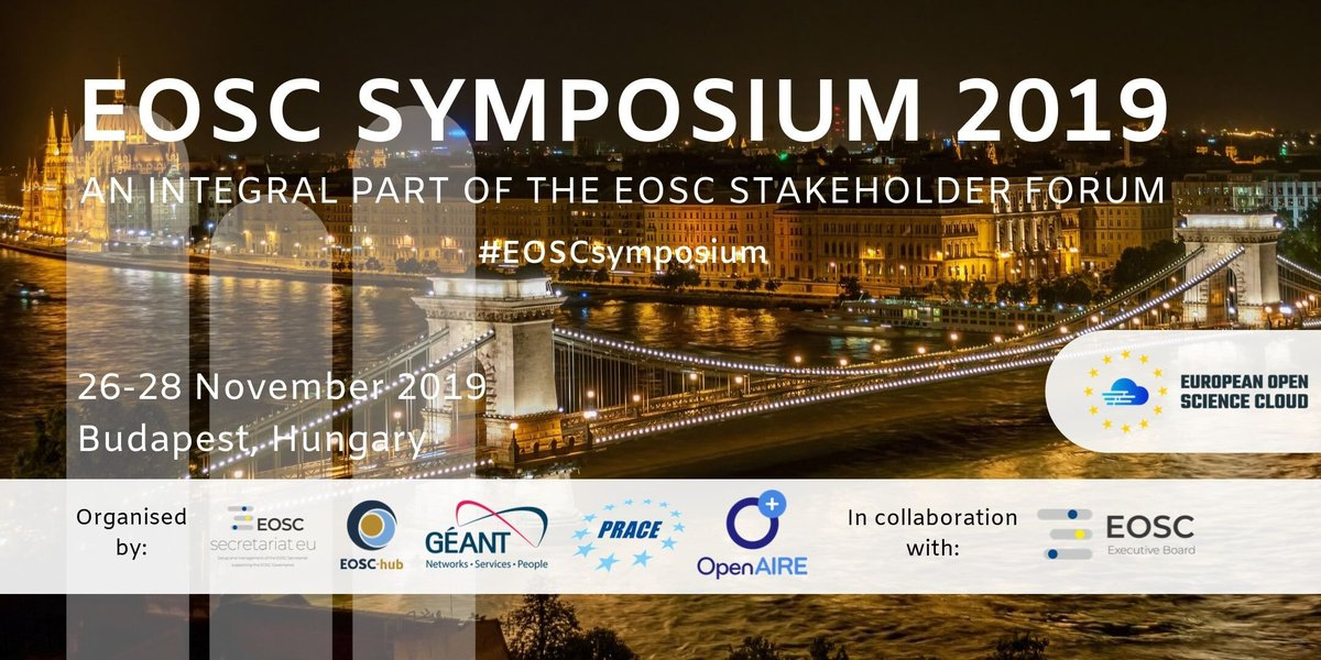 Stay tuned for the #EOSCsymposium 2019!