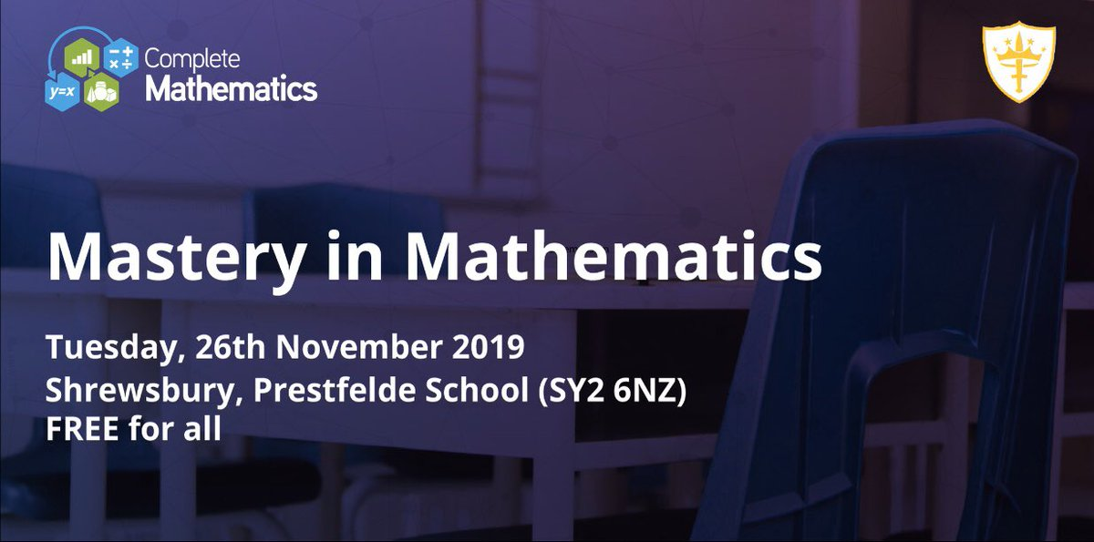 On Tuesday, 26th November Prestfelde is hosting a Mastery in Mathematics course! Free for all to attend! To find out more and book: http://completemaths.com/cpd/mastery #maths #worshop #weareprestfelde #Shrewsbury #shropshirepic.twitter.com/iFwkAfsamW