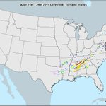Image for the Tweet beginning: Top #Tornado Events of the