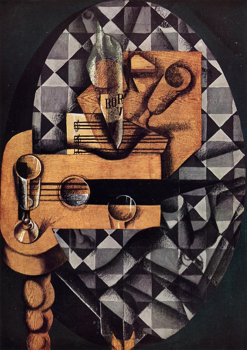 Guitar, Bottle and Glass, 1914 #syntheticcubism #juangris <br>http://pic.twitter.com/pSWOhiIodC