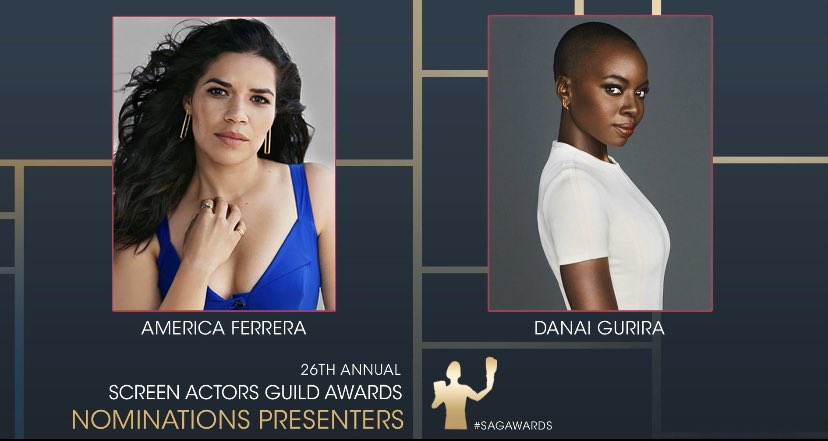Thrilled to announce that I'll be presenting the 26th @SAGawards nominees with the amazing @americaferrera next week on Dec.11 ! #sagawards