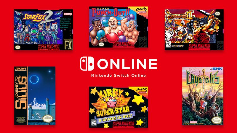 6 classic games will be added to the #NES & #SNES – #NintendoSwitchOnline collection on 12/12!  Super NES – Nintendo Switch Online: ・Star Fox 2 ・Super Punch-Out!! ・Kirby Super Star ・Breath of Fire II  NES – Nintendo Switch Online: ・JOURNEY TO SILIUS ・Crystalis