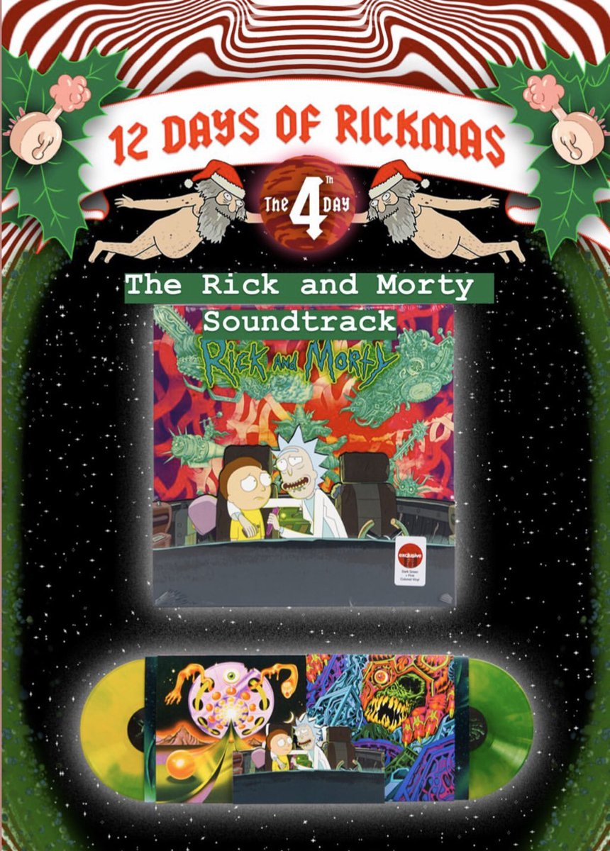 It's the 4th day of #Rickmas!  And you could win a @RickandMorty Soundtrack LP. Tap on over to the original post for your chance to win 👇