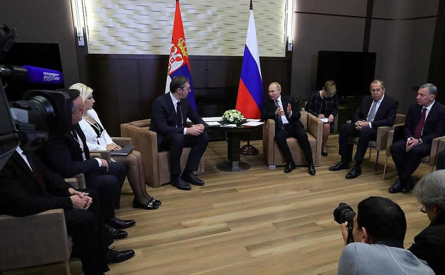 Putin and Serbian President Aleksandar Vucic agreed to develop cooperation in the energy sector http://xhne.ws/XxDEk