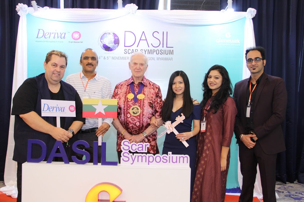 Drs. Marc Roshcer, Somesh Gupta, Lawerence Field, Atula Gupta, and Simran Pal Aneja at the DASIL #SCAR Symposium in #Myanmar on November 4th and 5th.