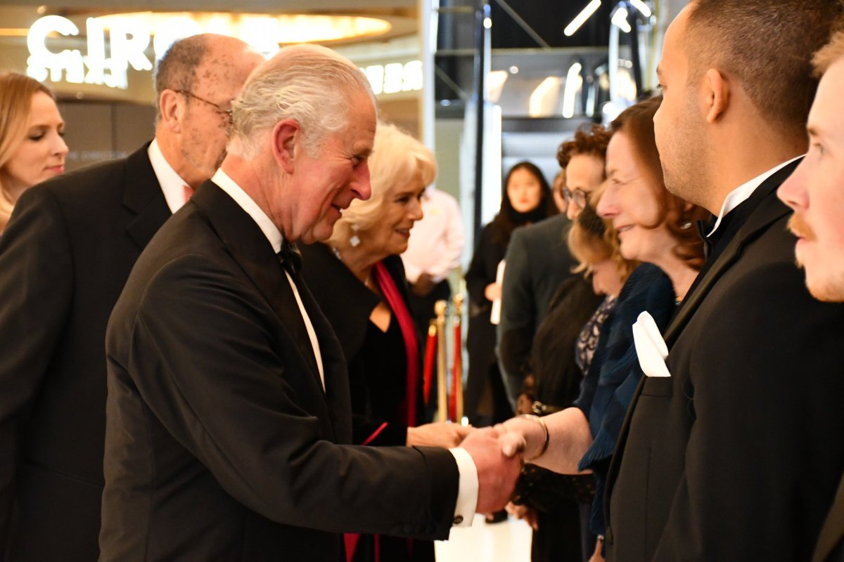The Royal Film Performance is the 71st to be delivered in aid of @FilmTVCharity. Money raised from the performance will help the charity to improve mental health support for its sector. 🎞🎥 The Prince and The Duchess meet trustees, supporters and staff of the charity. #1917film