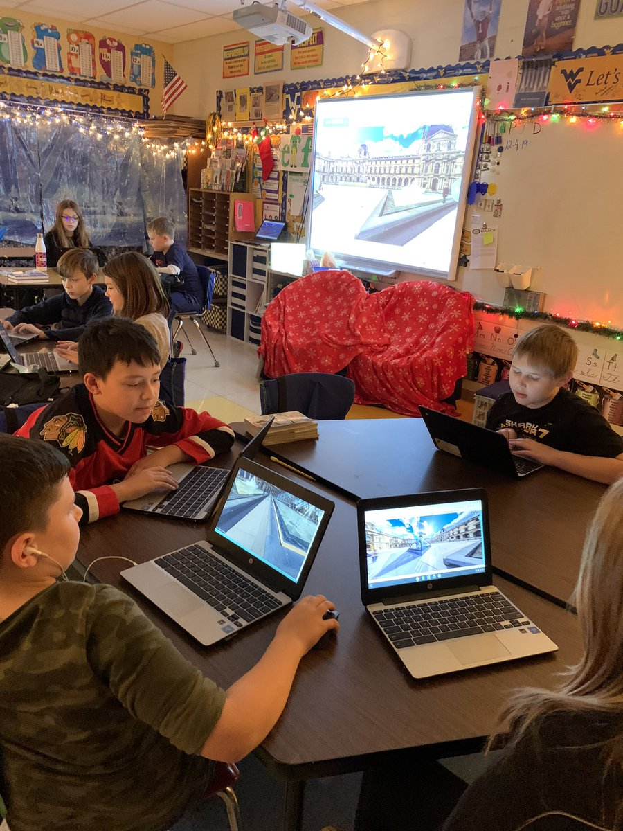 We are reading The Family Under the Bridge. Today, we took a virtual to the Louvre and France thanks to @nearpod. @Monongalia_Co @MonongaliaElem @MonCoTechnology @MylanPatriots #nearpod #mylanpatriots #technologyisamazing #setthestagepic.twitter.com/OuufCiiBIE