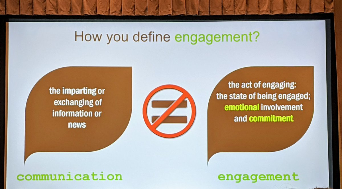 #vascd2019. How do you define engagement & family engagement? @DrSConstantino shared his meanings for both.
