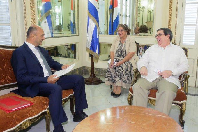 Canciller cubano recibe al embajador de Egipto en la mayor de las Antillas