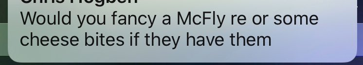 Husband popping into @McDonalds - I think he means #McFlurry, but if they've started selling @mcflymusic then yes I'd fancy one 🤣😂🤣