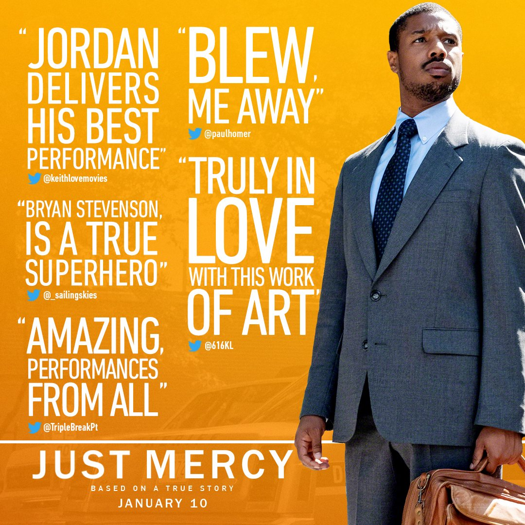 A hero's story that will blow you away. @MichaelB4Jordan is Bryan Stevenson in #JustMercy. In select theaters December 25, everywhere January 10 - get tickets now.