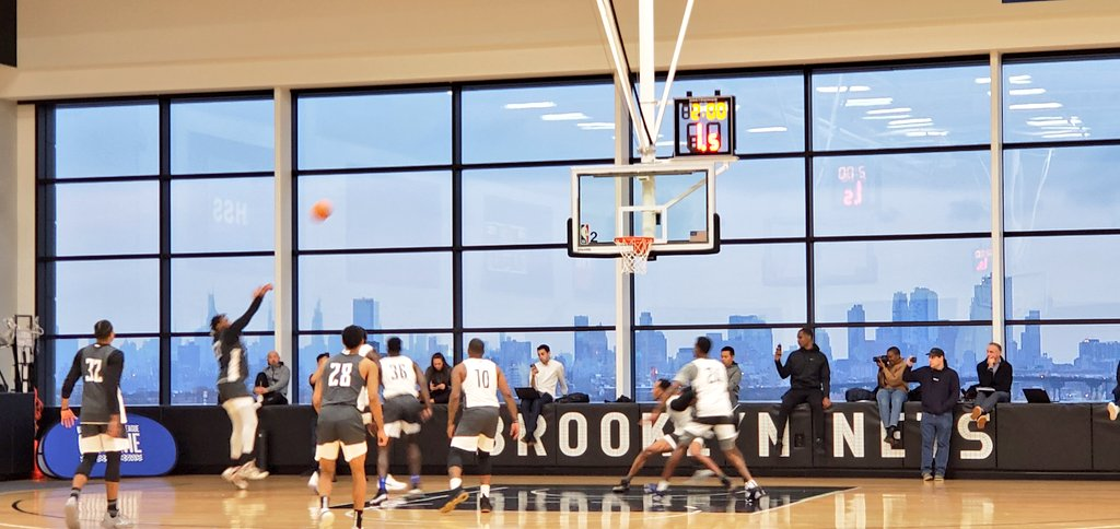 At the NBA's Basketball Africa League Combine at the Brooklyn Nets practice facility. Exciting to see this league taking its first step.