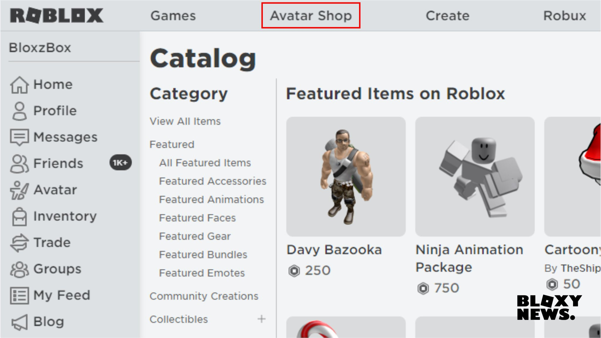 Bloxy News On Twitter The Roblox Catalog Has Been Renamed To Avatar Shop It Still Currently Says Catalog On The Page But It Is Changed On The Navigation Bar What Do You