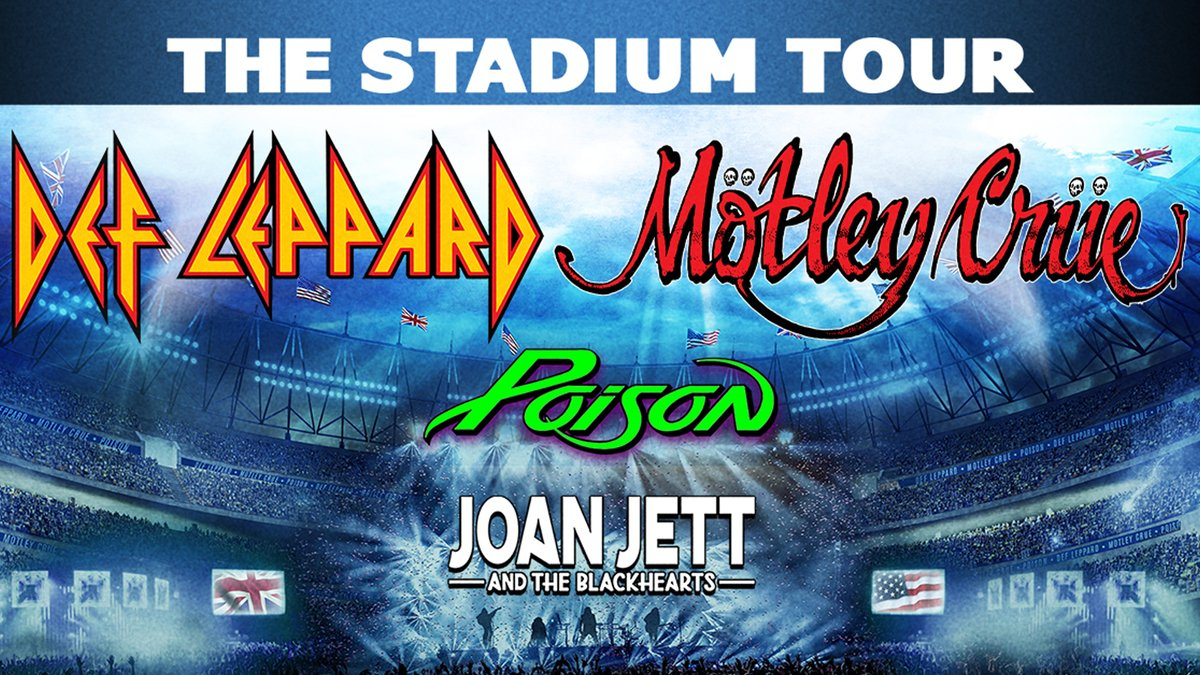 IT'S OFFICIAL 💥 we're hitting the road with @MotleyCrue and special guests @Poison and @JoanJett next summer for a tour SO MASSIVE that it could only be held in America's biggest stadiums.   Visit  for full info and dates.