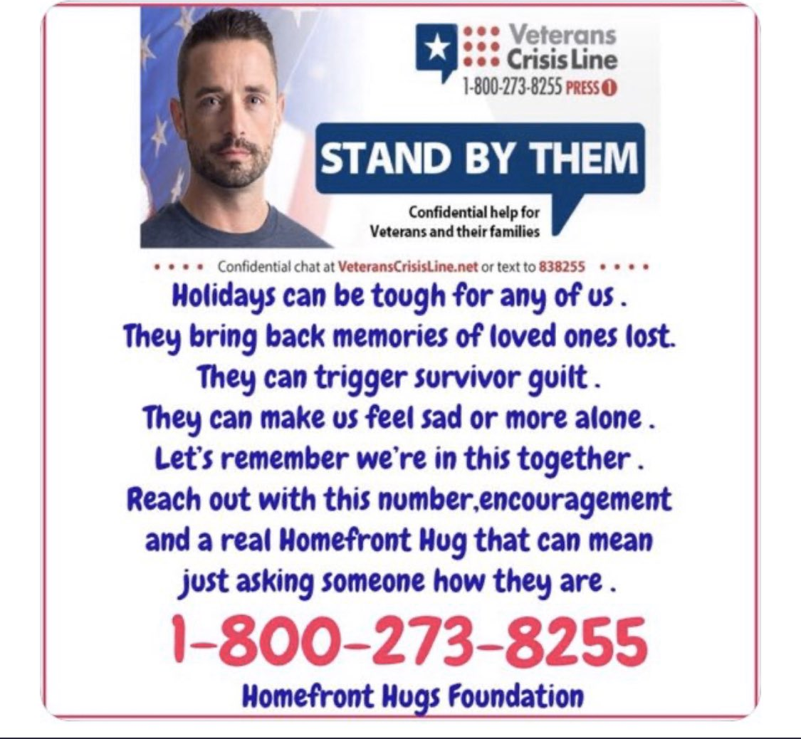 Remember we are all in this together - and holidays bring sadness sometimes ...Please share this as you could remind someone he or she is not forgotten, maybe even save a life.