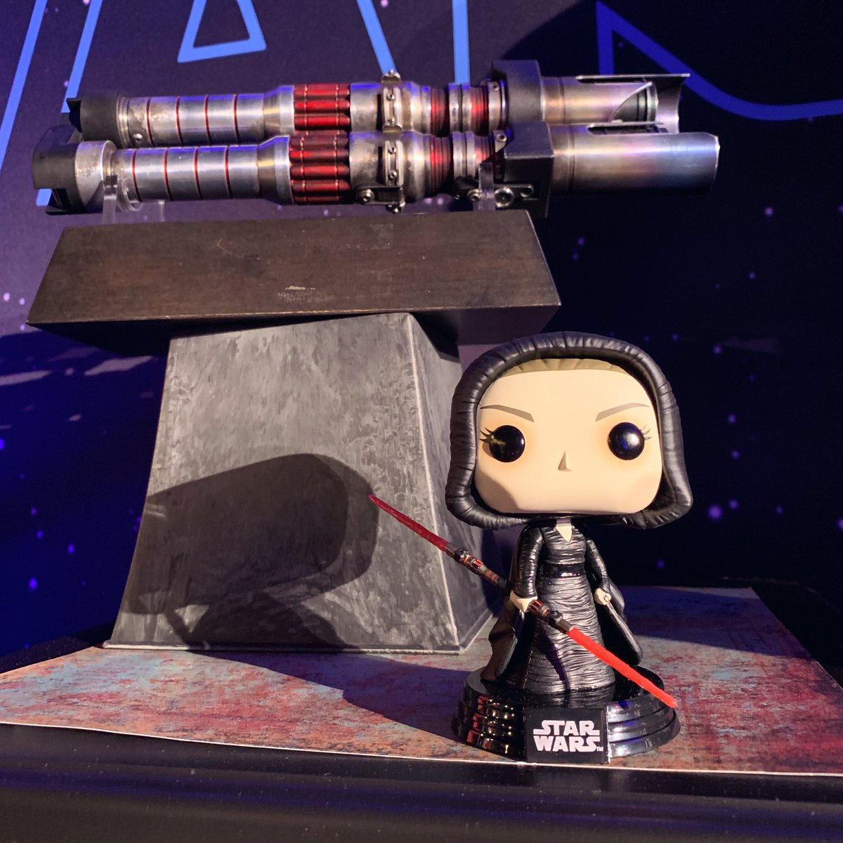 The Dark Rey Pop! is on display at #TheRiseOfSkywalker junket!