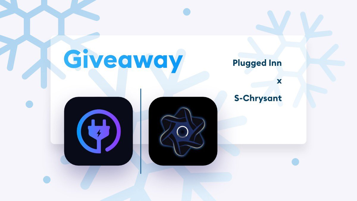 ✨PLUGGEDMAS GIVEAWAY✨Rules:- Follow @pluggedinn_ & @s_chrysant - RT this tweet- Tag a friend!Prizes:- 1 x Plugged Inn Renewal- 1 x S-Chrysant KeyEnds in 24 Hours, good luck! ❄️