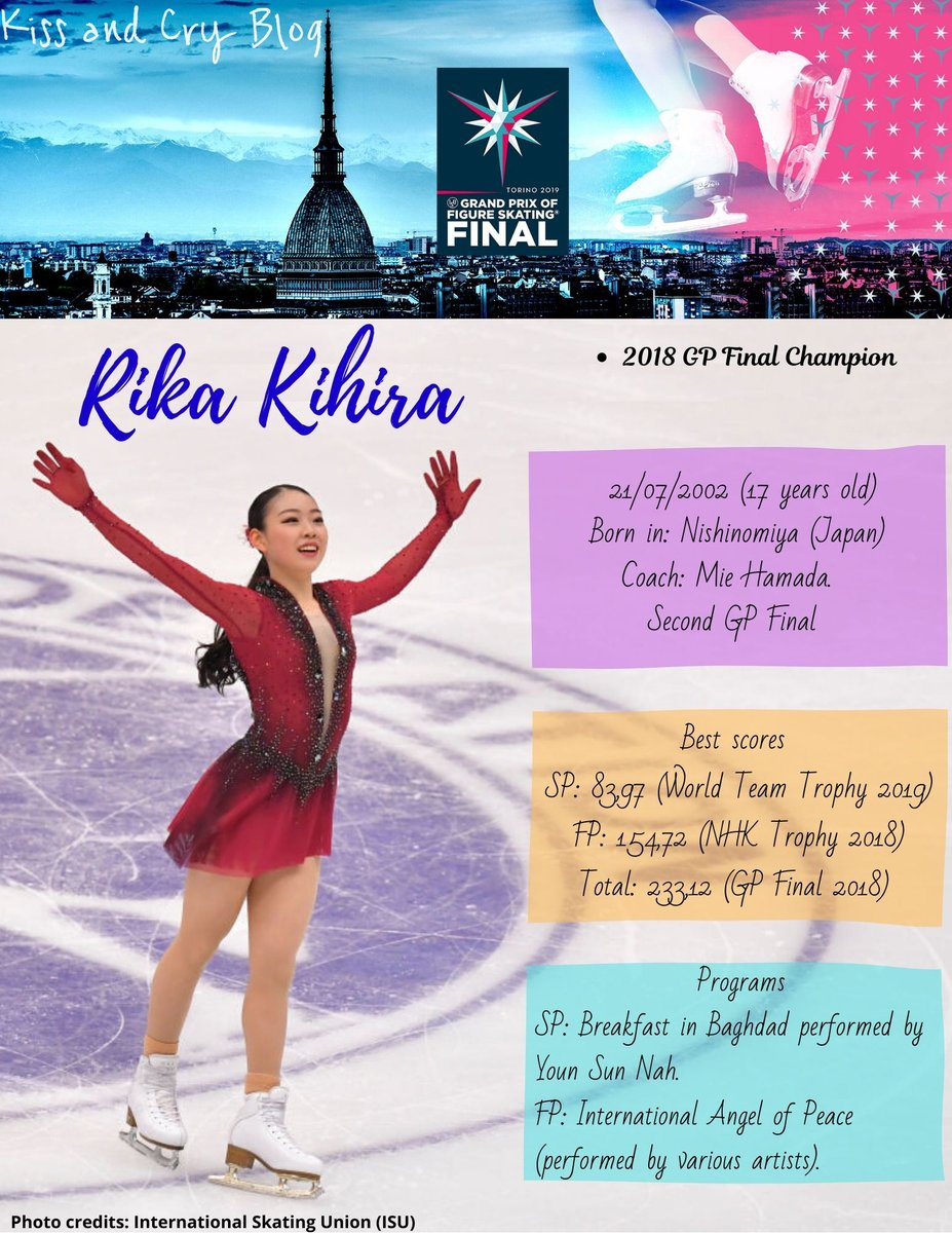 #GPFigure #GPFinal  #RikaKihira (JPN)    She's the reigning Grand Prix Final champion. The triple Axel is not a secret for her but she wants to go one step further trying to land a quad jump.   Skate Canada  NHK Trophy <br>http://pic.twitter.com/yB8Kv1o3Cq