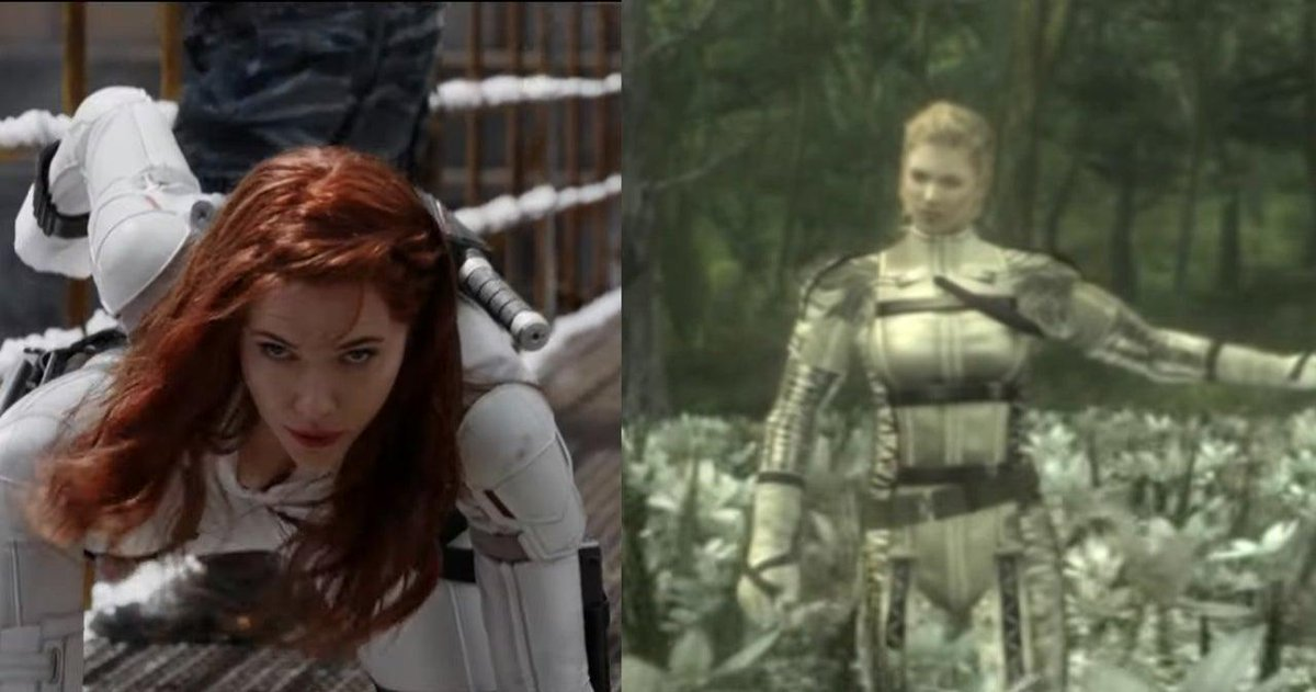 Director Jordan Vogt-Roberts, who's helming the official Metal Gear Solid movie, noticed quite a few similarities in the Black Widow trailer to Snake Eater. http://bit.ly/2LDbWqj