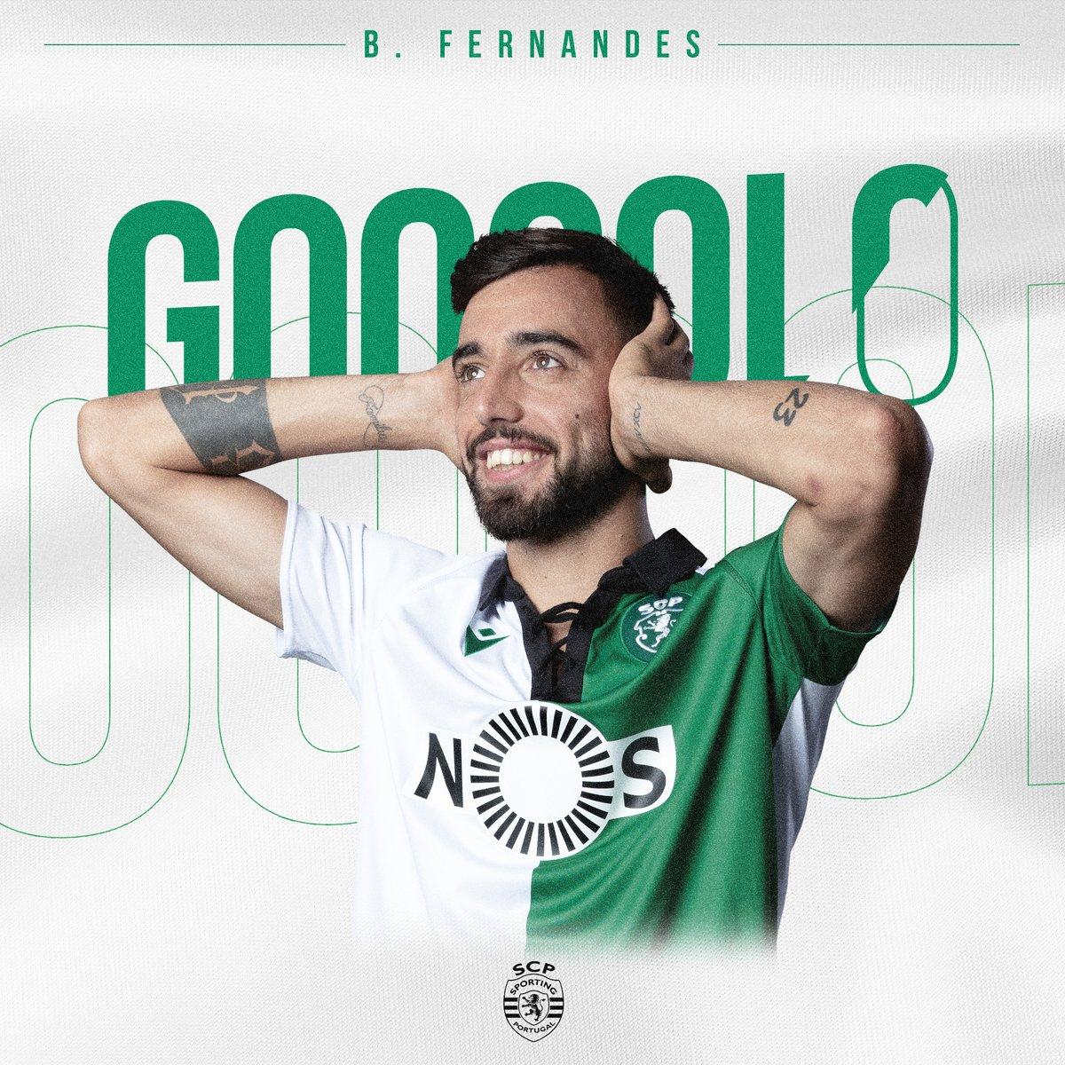 🎙️ 89'   GOLOOOOOOOOOOOO!!! É DO CAPITÃOOOO!!! @B_Fernandes8 inaugura o marcador através de um livre directo! ⚽️#GVFCSCP   0-1   #AllianzCup #DiaDeSporting