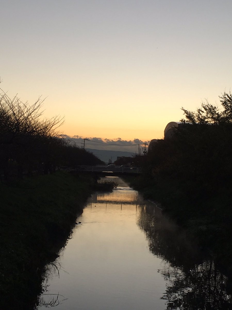 今日の沼川と富士山 #沼川 #早朝 #風景 #川