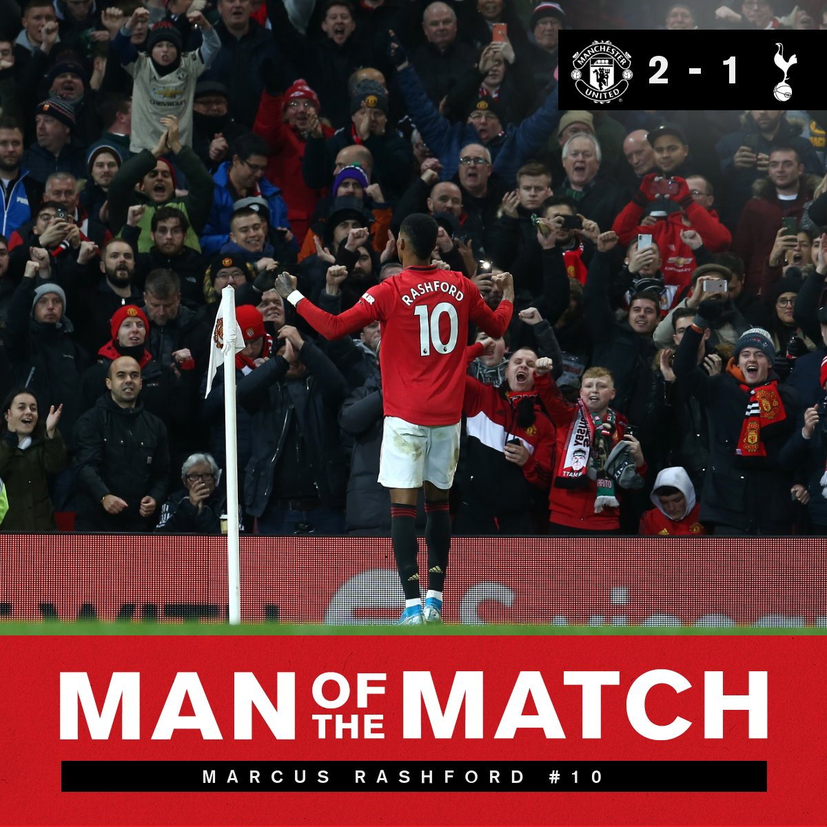 Who else was it going to be?   Your Man of the Match   @MarcusRashford    #MUFC  #MUNTOT