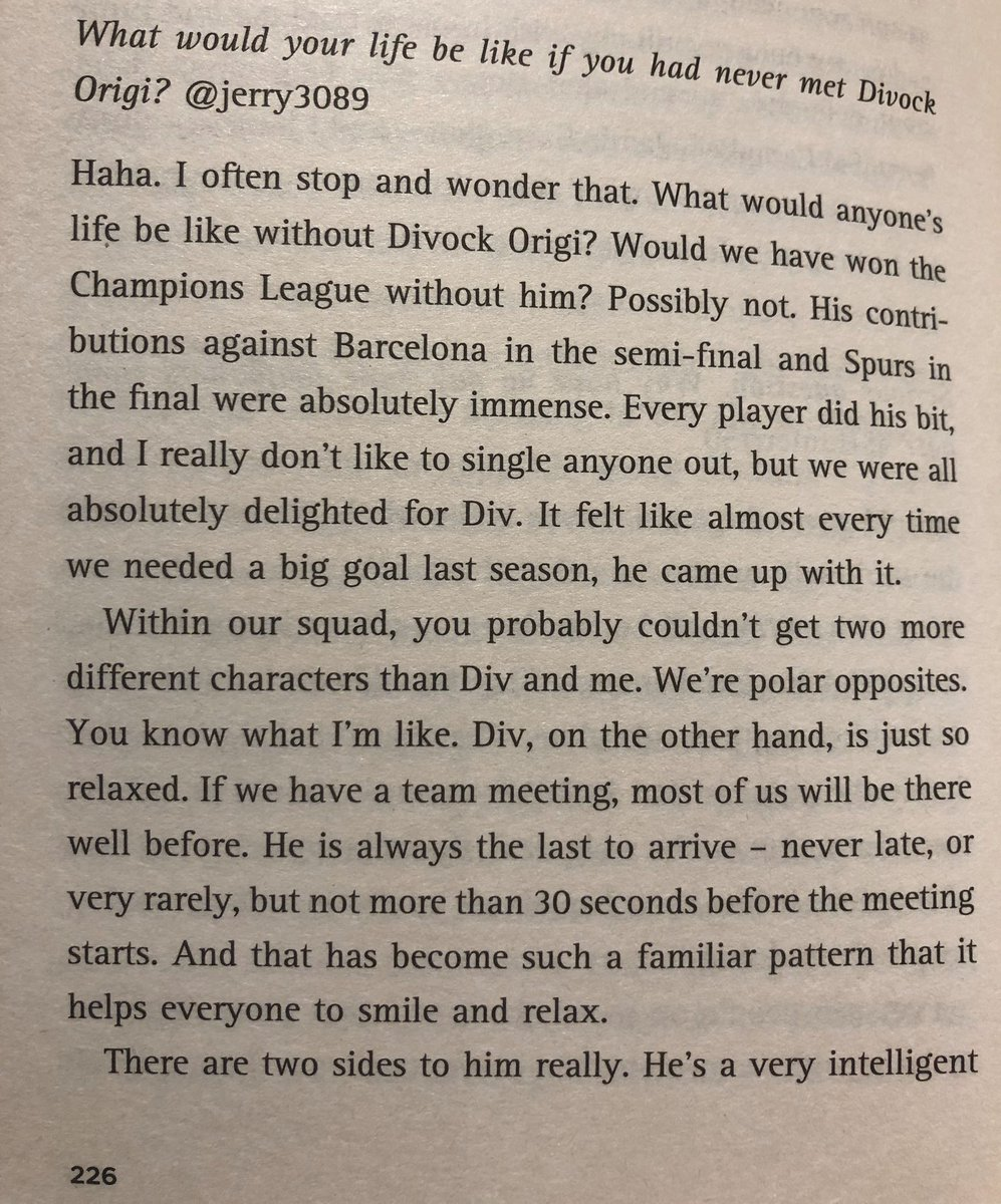 "James Milner on what his life would have been if he'd never met Origi.   Brilliant read this. ""Planet Origi"" 😂"