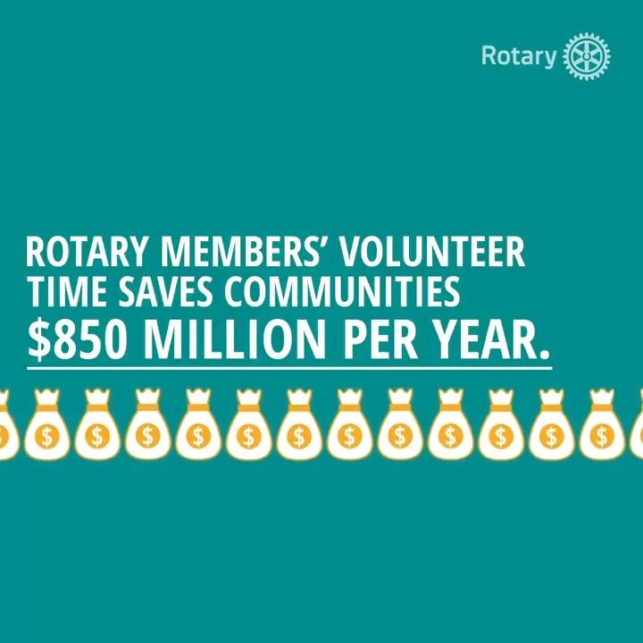 Johns Hopkins University finds that #Rotary volunteers save communities $850 million per year. Read the ground-breaking new report. on.rotary.org/JHUreport #InternationalVolunteerDay