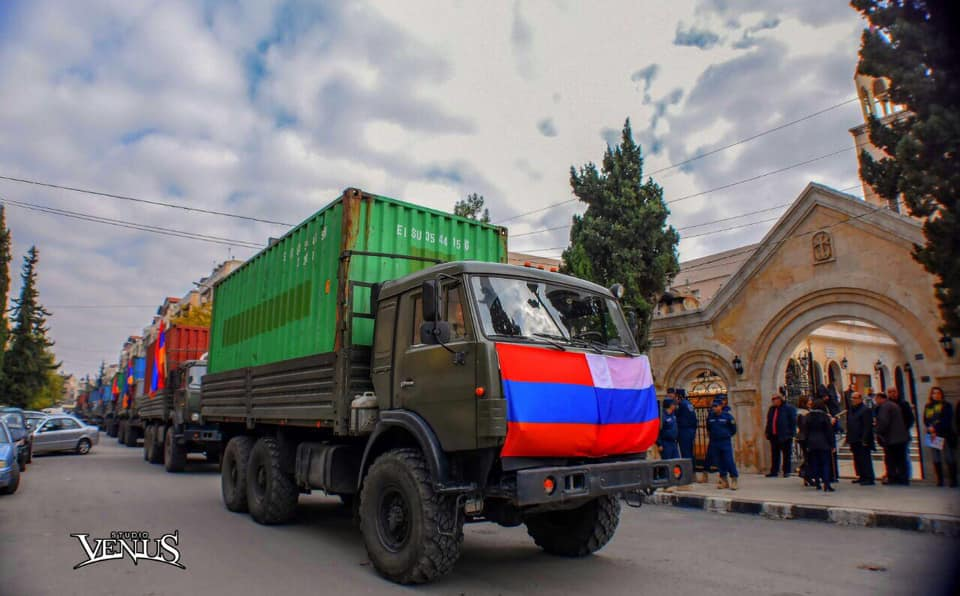 The Russian-Armenian community of Krasnodar has sent 80 tons of humanitarian aid to Aleppo's Armenian community as well as other Aleppo residents. Aid delivery made possible through coordination between Armenian and Russian Defense Ministries.  <br>http://pic.twitter.com/46GsWhBA5C