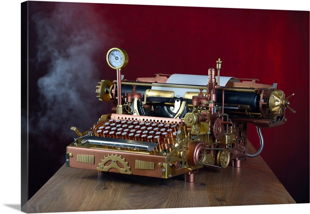 I would spend my whole paycheck to buy this typewriter. #Steampunk #AmWriting