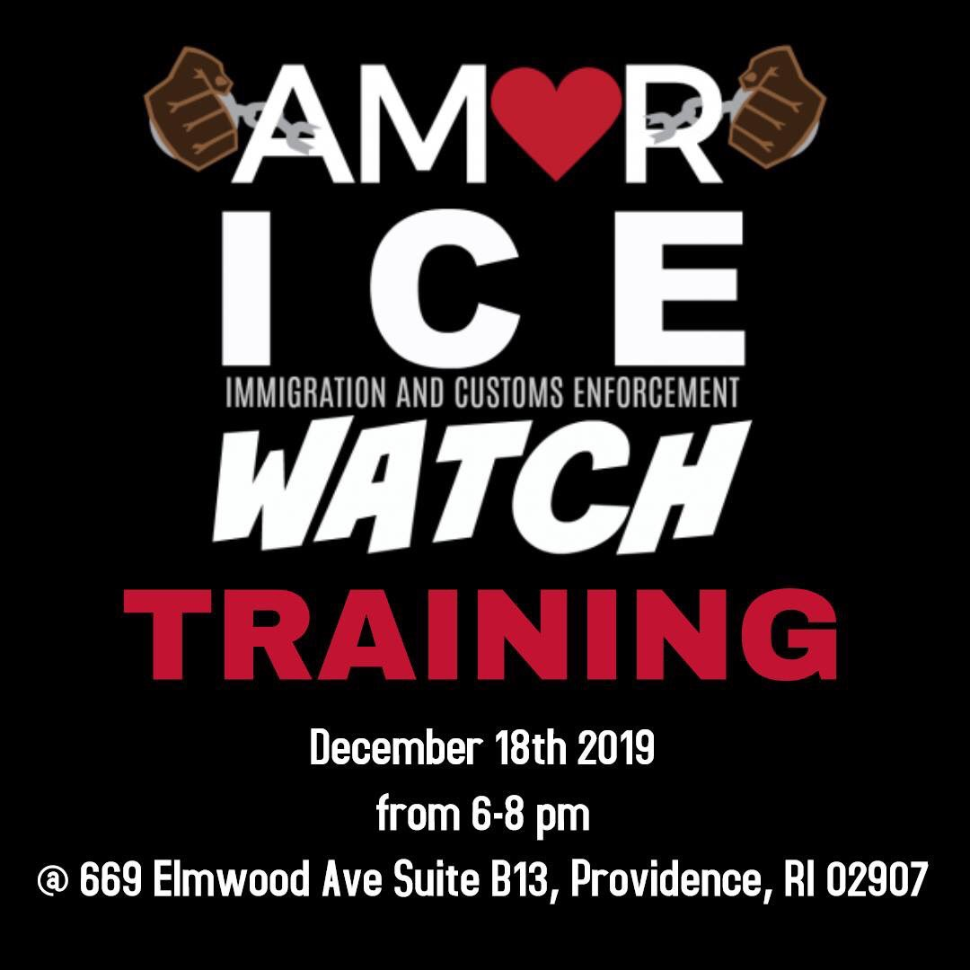 come out to AMOR's ICE Watch training on the 18th!! Learn how to help protect our community
