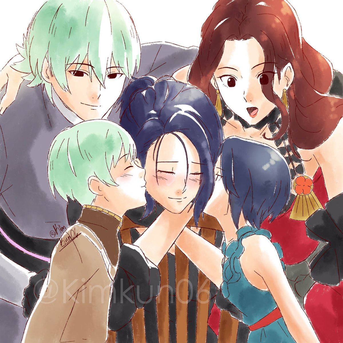 The Nevrands [Yes he took her last name] + Aunty Dorothea  #FireEmblemThreeHouses #FireEmblem3Houses #FE3H<br>http://pic.twitter.com/tBxUd3uiGq